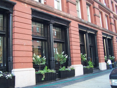 Flowers and storefront landscaping is everywhere in TriBeCa