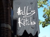 The sign outside Hell's Kitchen on 10th off Nicollet Mall