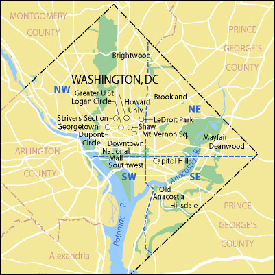 Area map courtesy of CulturalTourismDC.org