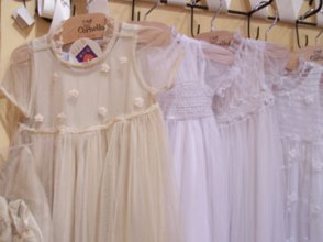 A beautiful array of christening outfits at LaCache