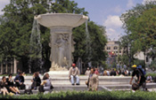 You'll enjoy DuPont Circle in Washington, DC — locations for many of the foreign embassies.