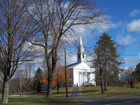 A typical New England church in town.