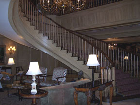 Winding Lobby Staircase