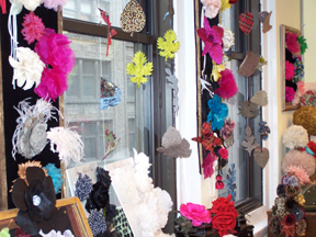 Custom Fabric Flowers — Showroom and Workrom