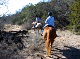 Out on the trail with Wrangler Jay. (Who also does professional bullriding as a hobby.)
