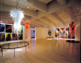 Display of Chihuly Glass Art