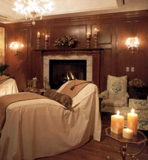 One of the ultra-relaxing spa therapy rooms