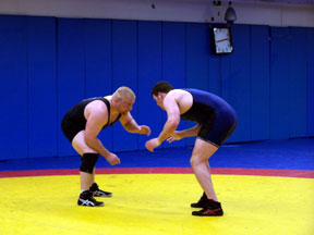 Wrestlers practice at USOTC