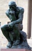 Rodin's original bronze casting, The Thinker.